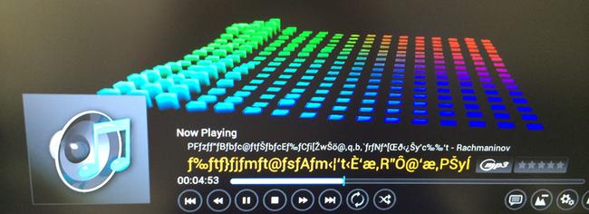 ミュージックプレーヤーとしても充分通用します。日本語のタイトルは、フォントの問題でしょう、化けました。