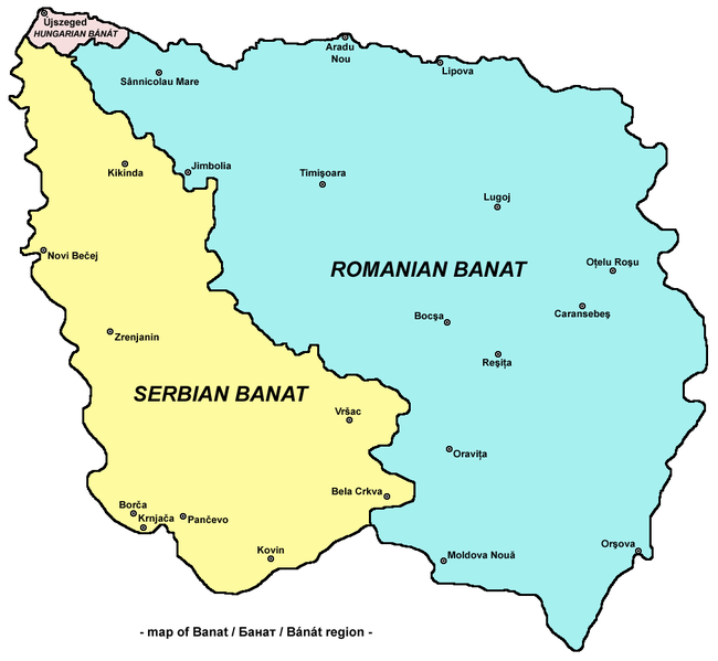 Das 3-geteilte Banat der heutigen Zeit oder aber Quo Vadis Banat?