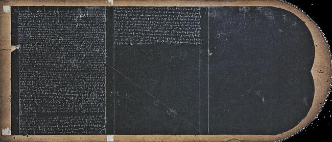 Tablette de cire. Comptes de l'hôtel de Louis IX.