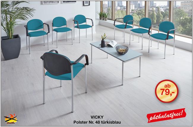 Hygienischer Waretzimmerstuhl VICKY  für die Einrichtung von Arztpraxen und Kliniken von Mediizinmöbel-HerstellerSIMPEX-OBJEKT