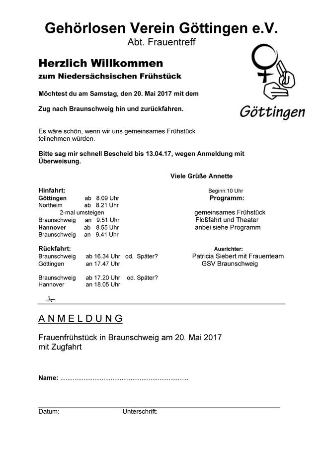 Abt Frauentreff Herzlich Willkommenzum Niedersächsischen