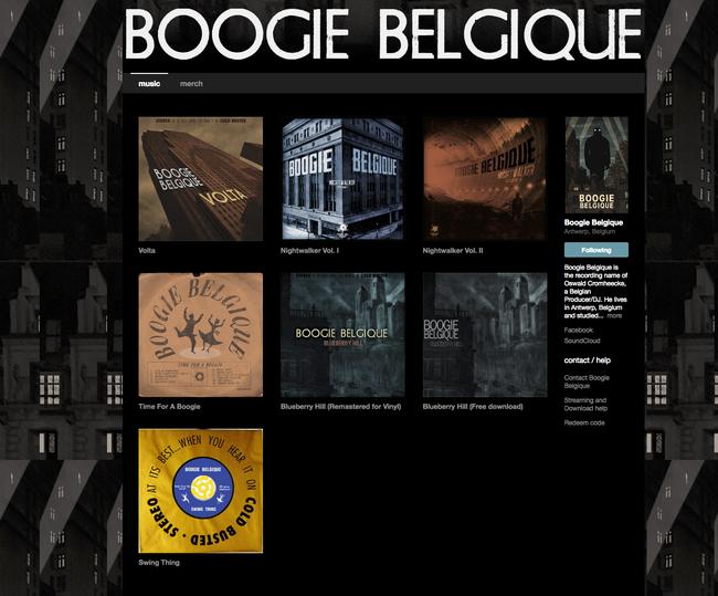 Albums de Boogie Belgique