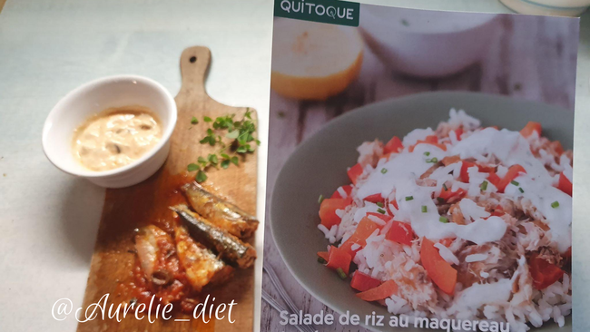 salade vegetarienne riz sardines Quitoque dieteticienne nutritionniste mulhouse