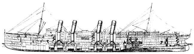 Schnitt durch das Dampfschiff ''Deutschland''