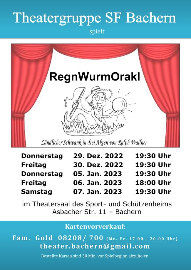 Programm Theatergruppe SF Bachern Saison 19/20