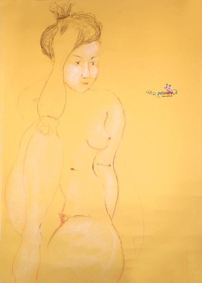 "44 - ""Yasmine""  Portrait  Dessin-Pastel   / Février 2018"