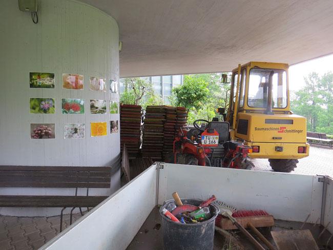 Vorbereitungen des Garten-Teams für den Sonntag