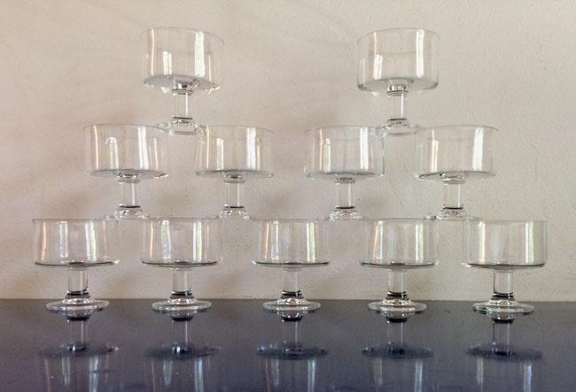 coupes à champagne vintage, coupes en cristal, Thomas Glas, Reisenthal