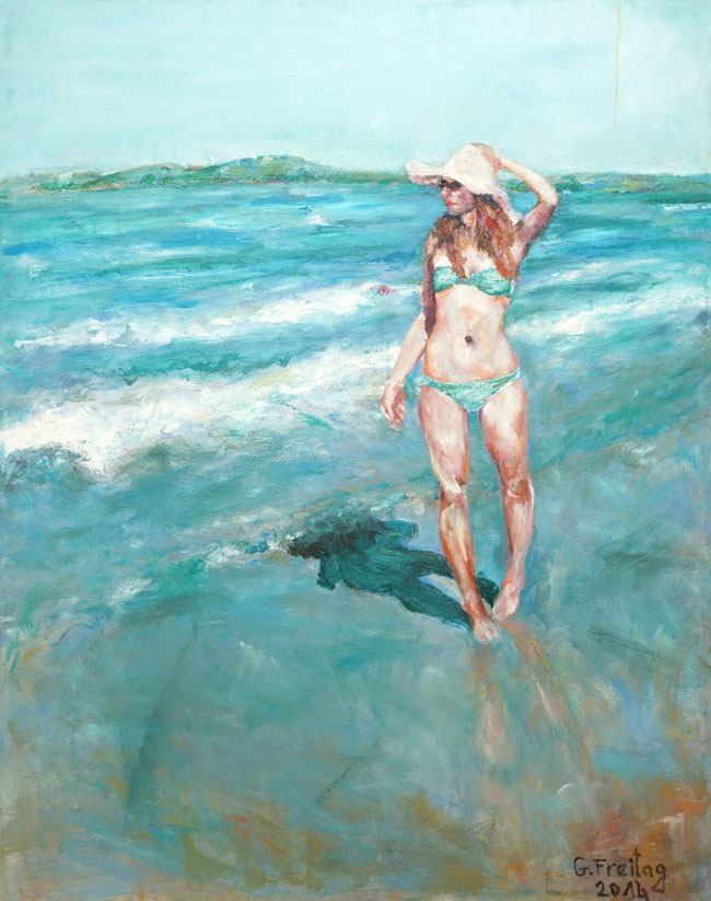 Valentina | 2014, Öl auf Leinwand, 100 x 80 cm. Privatsammlung!