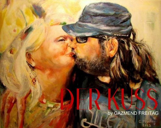 Der Kuss | 2013, Öl auf Leinwand, 100 x 80 cm