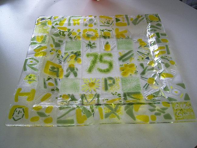 Fusing Geburtstagsgeschenk zum 75. Geburtstag