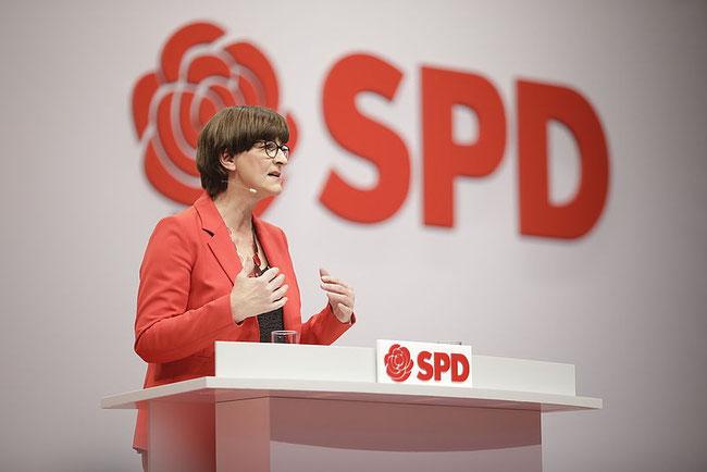 Saskia Esken, Parteivorsitzende der SPD. Foto: SPD