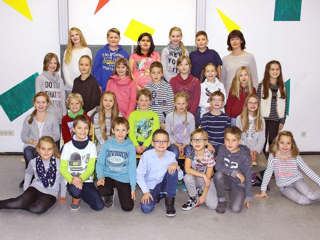 Klasse 4b | Frau Sprinkmeier | Quelle: Fischer-Foto