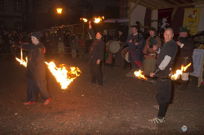 gemeinsam mit den Burning Dragons