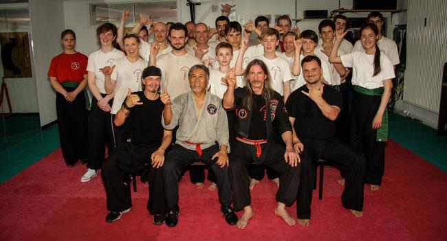 GM Al J. Dacascos aus Hawaii zu besuch in der Tostedter Wun Hop Kuen Do School