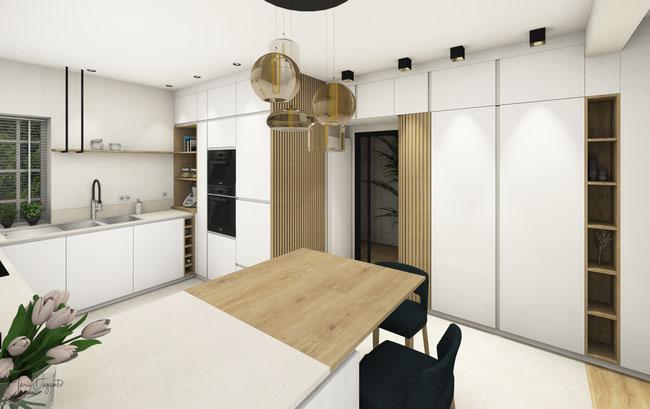 Aménagement d'une maison de Maître à Namur par l'agence de Décoration Marie's Home
