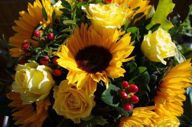 Ein Strauß Sonnenblumen