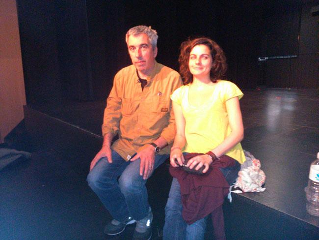 Alfredo Canavate, (Le Père et le roi) et Déborah Rouach (La très jeune fille)