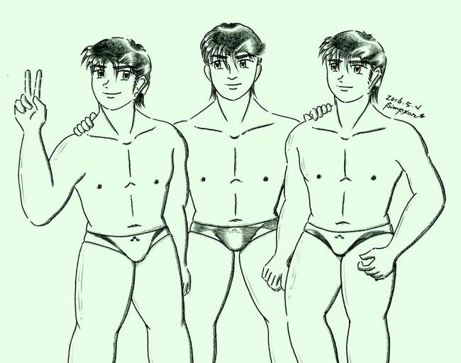 龍とケンジと健太郎