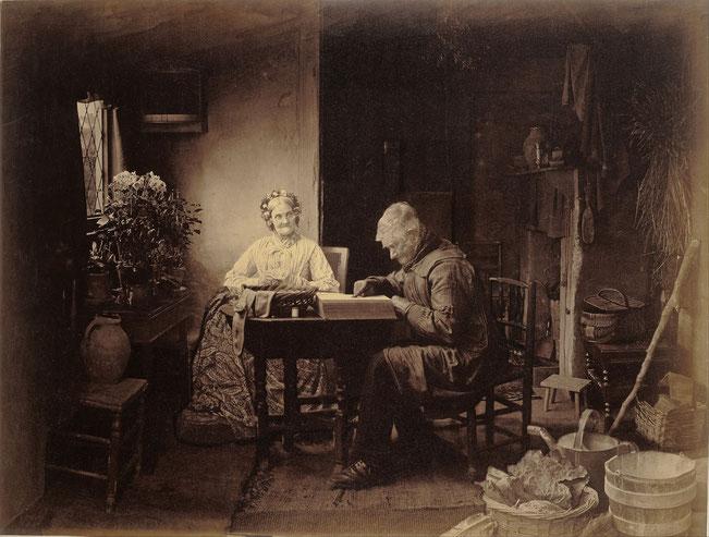 《ロビンソンの一日のしごとが終わったとき》1877年
