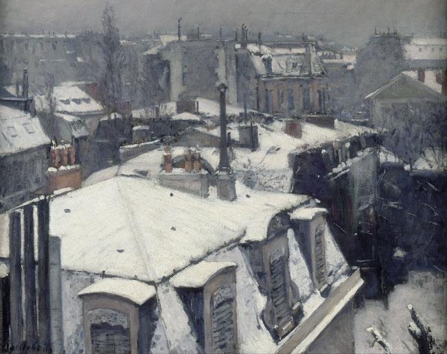 《屋上の眺め(雪)》1878-1879年