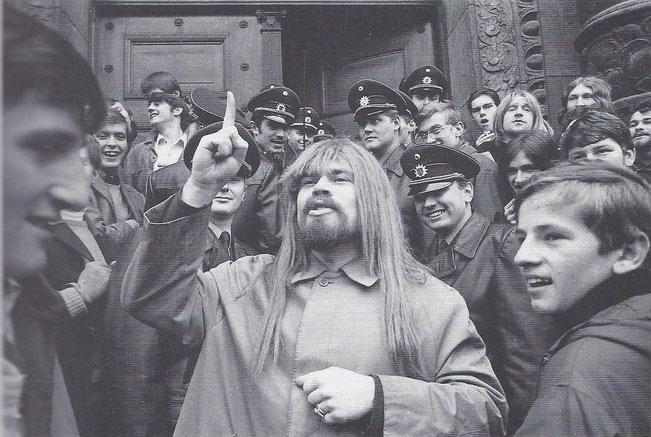 Protest beim Prozess gegen die beim Sit-In (siehe oben)  Festgenommenen, Januar 1969. Foto: Werner Kohn