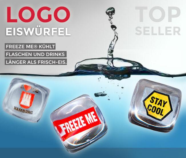 Kolb Imex Logo-Eiswürfel FREEZE ME