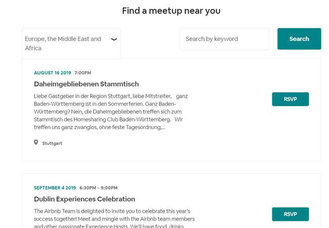 Airbnb-Meetups