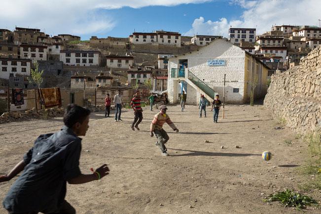 Kibber, Spiti, Fussball, Indien