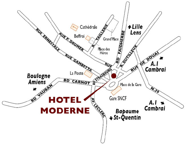 hotel Moderne access
