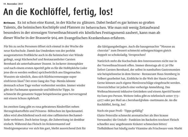 Artikel von Tanja Bamme (Schaufenster) vom 20.11.17