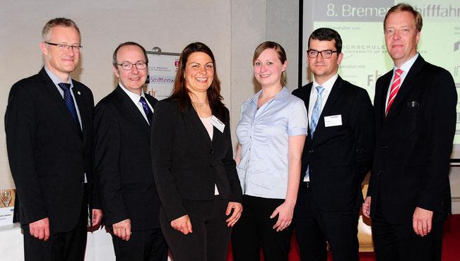 """Preisverleihung """"Exzellente Abschlüsse aus seefahrtbezogenen Fach- und Fachhochschulen"""" 2014"""