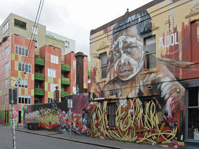 Street-art mural in Fitzroy