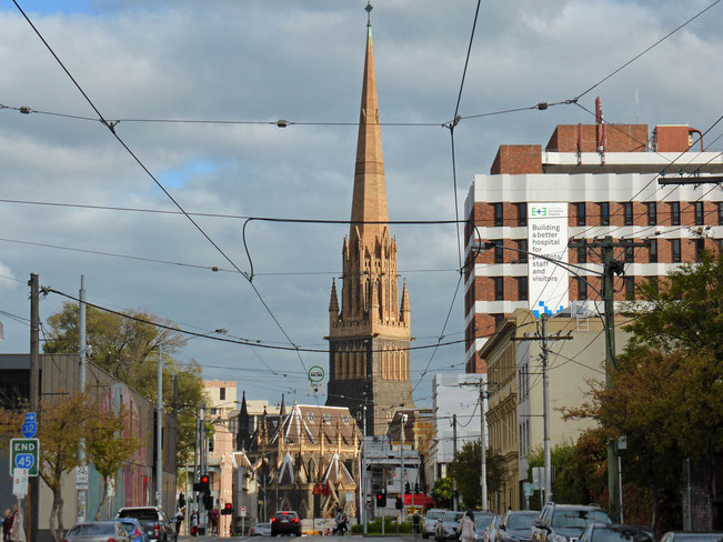 St Patricks Cathedral seen from Brunswick