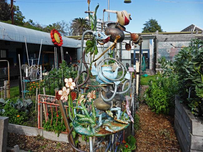 A garden sculpture