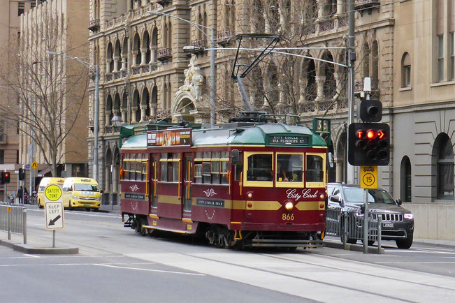A tourist tram in Melbourne