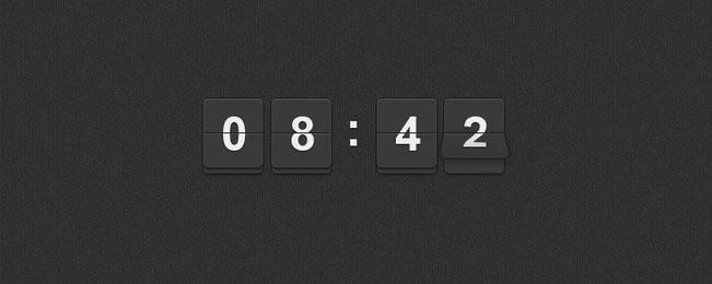 Шаблон мини часов
