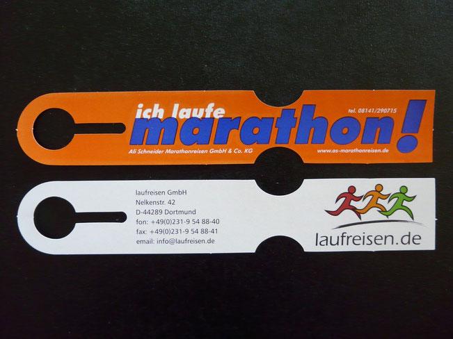 Ihr Logo auf Kofferanhängern im Format 218 x 38 mm