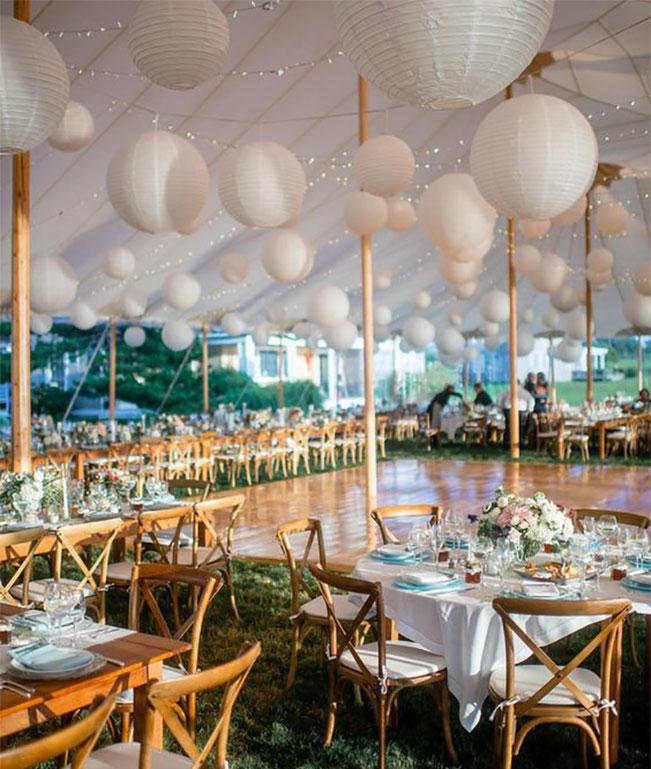pantallas chinas para carpa de boda