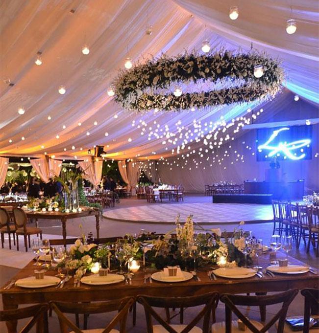 iluminacion para carpa de boda