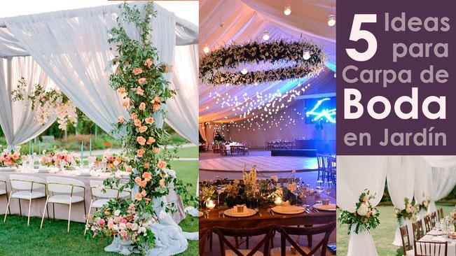 decoracion de carpa para boda en jardin