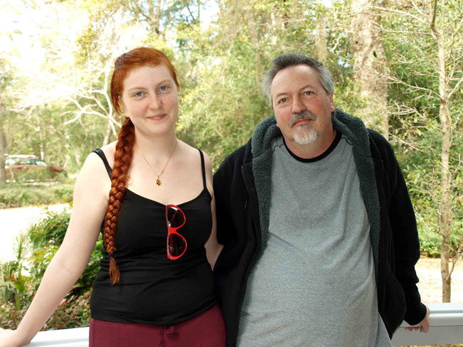 March 2015 : Chris with his daughter Megan at the Meher Center, Myrtle Beach