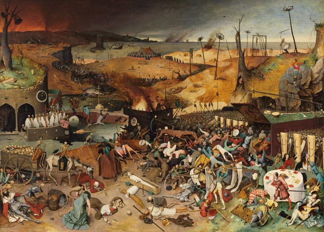 """Pieter Bruegel il Vecchio, """"Trionfo della morte"""" (1562)"""
