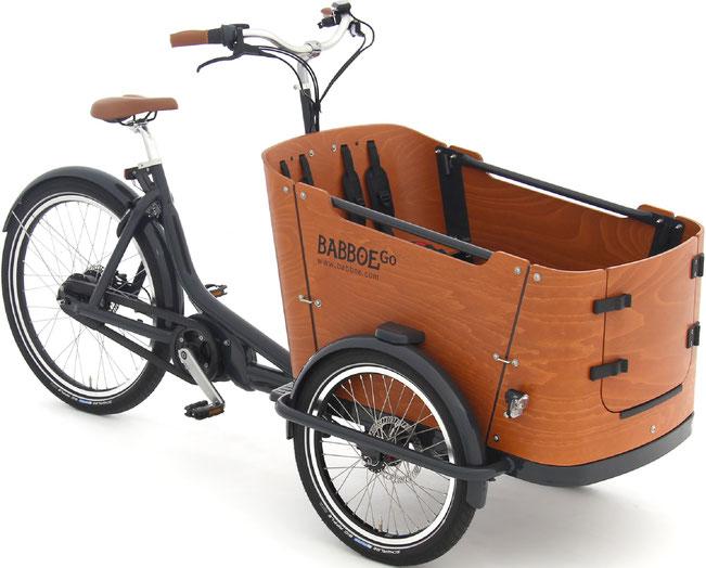 Babboe Go Mountain Lasten e-Bike, Lastenfahrrad mit Elektromotor, e-Cargobike 2021