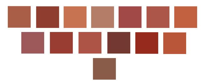 Palette nuances couleurs Terracotta