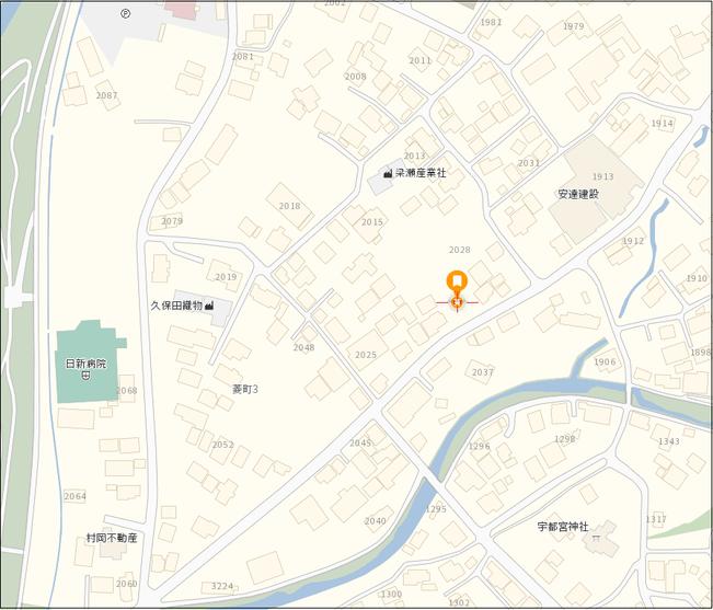 売土地 桐生市菱町3-2028-1 地図