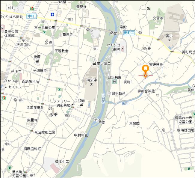 売土地 桐生市菱町3-2028-1 地図2
