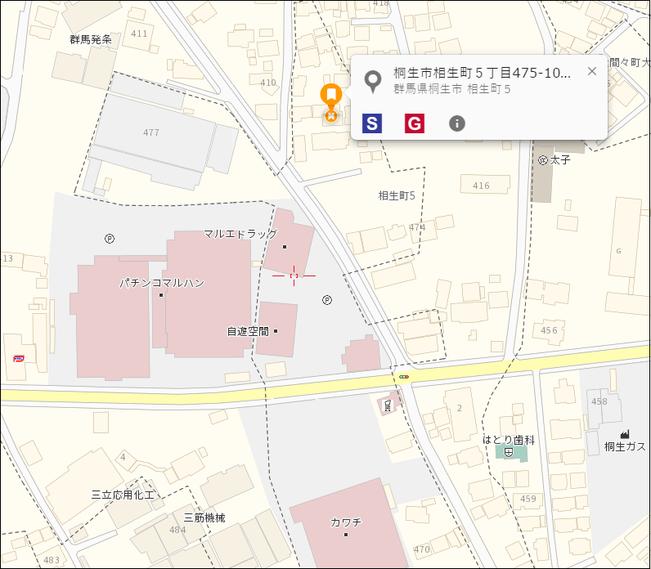 中古戸建 桐生市相生町5-475-10 地図