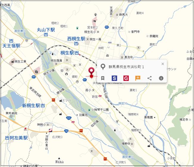 中古戸建 桐生市相生町5-475-10 地図2