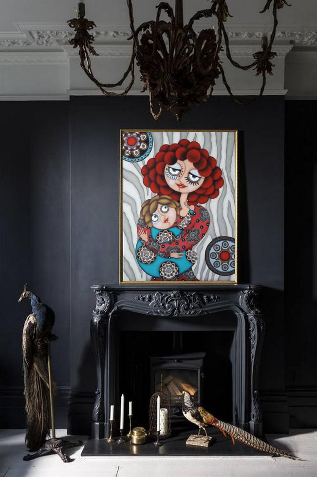 Tableau Artiste peintre, Nantes - tableau pour salon noir gris